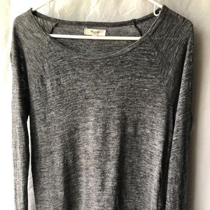 Madewell gray long sleeve shirt small